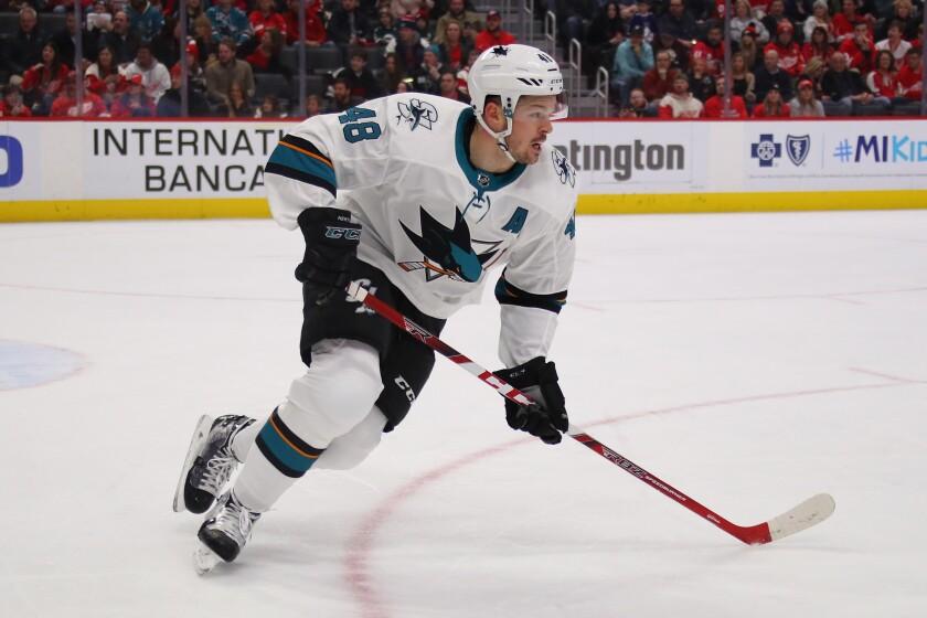 San Jose Sharks forward Tomas Hertl
