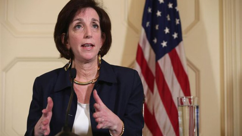 Roberta Jacobson, assistant secretary of State for Western Hemisphere Affairs, answers reporters' questions in English and Spanish during a news conference in Havana in January. She led a U.S. delegation in meetings with Cuba that could restore diplomatic ties between the two countries.