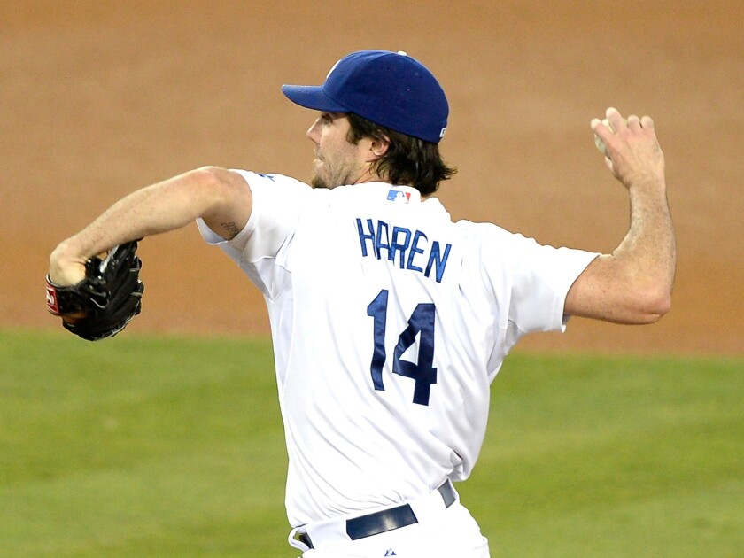 Dan Haren gave up a solo home run in the first inning, but then held the New York Mets to just three total hits over seven innings in Dodgers' 6-2 win.