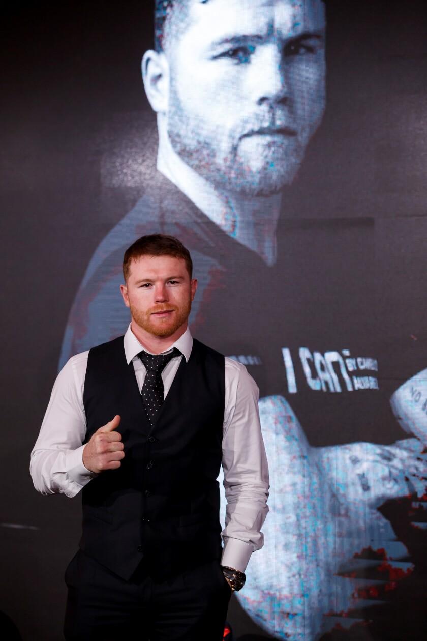 El boxeador mexicano Saúl Canelo Álvarez.