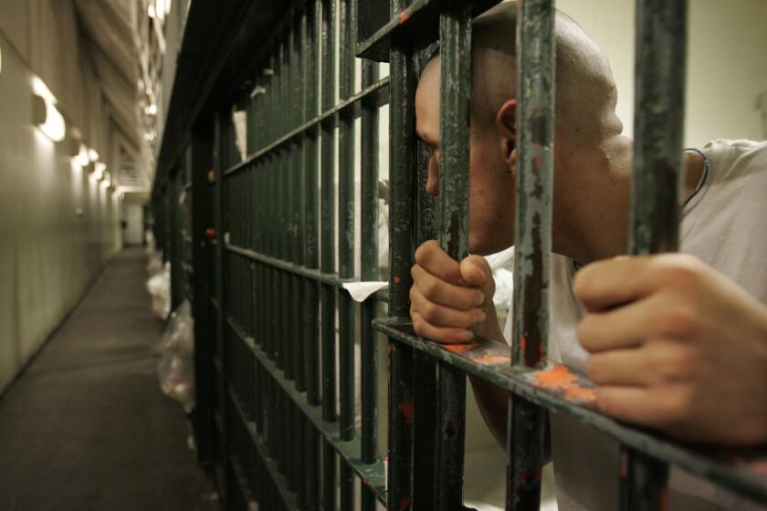 A prisoner at Men's Central Jail