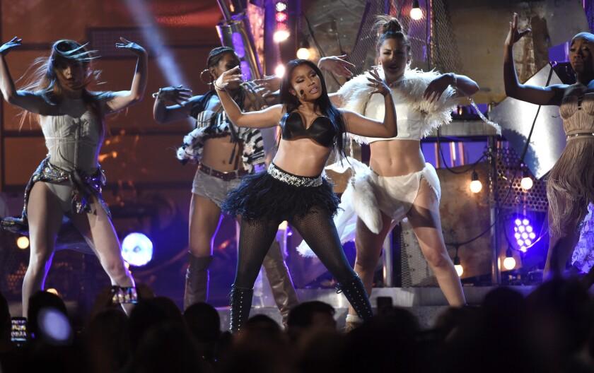 Nicki Minaj performs at the Billboard Music Awards at the MGM Grand Garden Arena in Las Vegas in May.