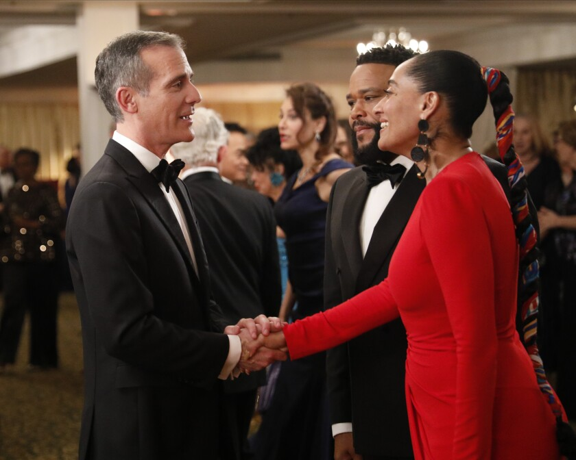 A new episode of 'black-ish' will star Mayor Eric Garcetti as Mayor Eric Garcetti