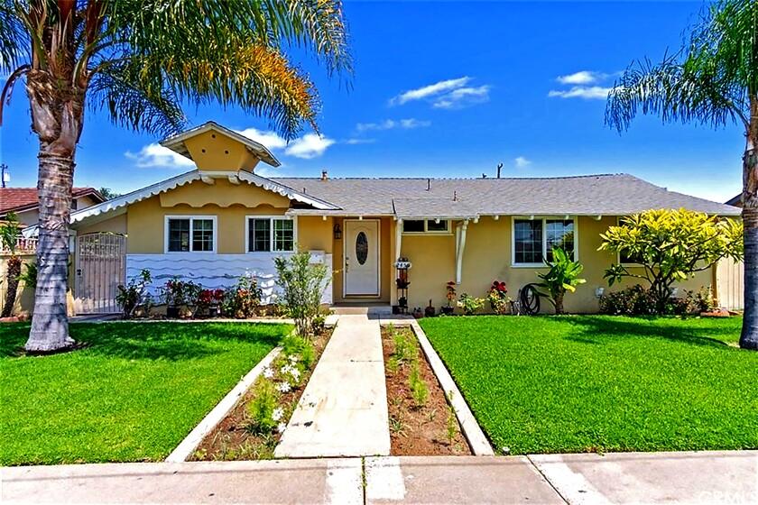 Single-story home at 2459 W. Cerritos Ave., Anaheim