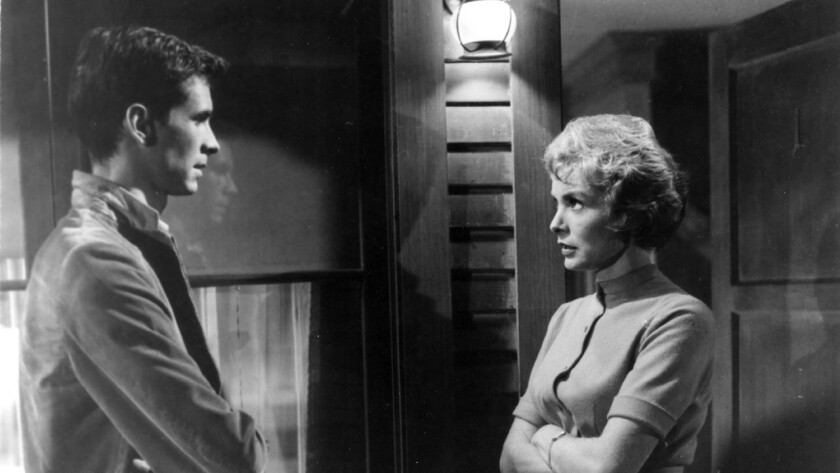 "Anthony Perkins and Janet Leigh in ""Psycho"""
