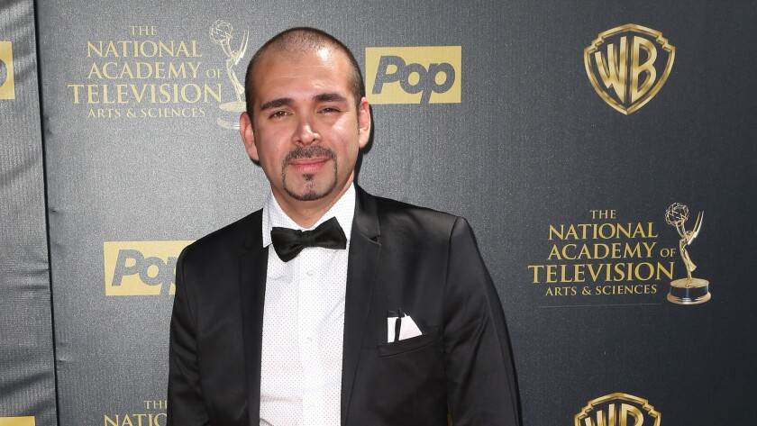 Actor Andre Bauth at the 42nd Daytime Emmy Awards in April 2015. Bauth, whose real name is Andre Bautista, was found guilty of trying to kill his Studio City roommate.