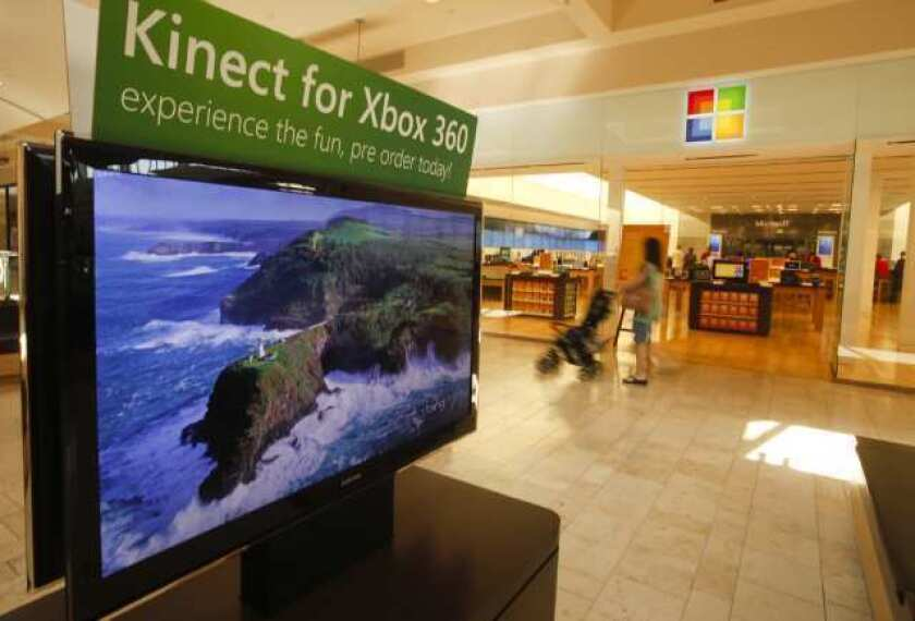 The Microsoft store at the Shops at Mission Viejo.