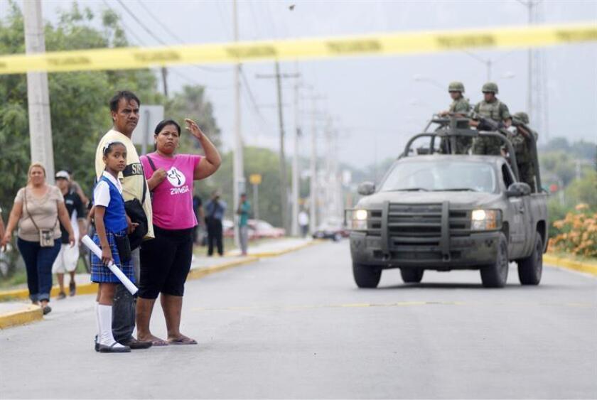 Fotografía de archivo del 22 de febrero de 2015, de un operativo en el municipio de Nuevo Laredo, en el estado de Tamaulipas (México). EFE/STR