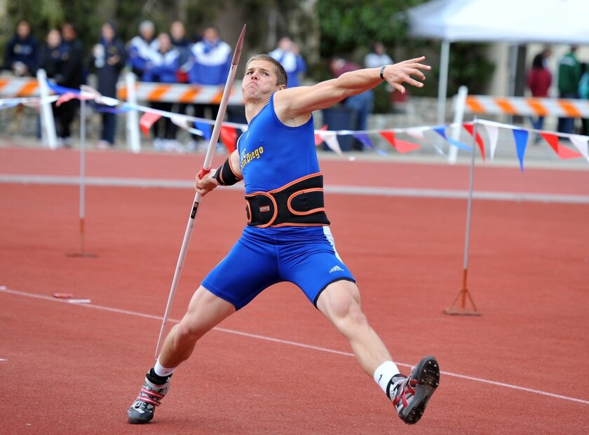 UC San Diego senior Nick Howe is going for his third straight national championship in the javelin.
