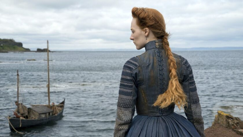 """This image released by Focus Features shows Saoirse Ronan as Mary Stuart in a scene from """"Mary Queen"""