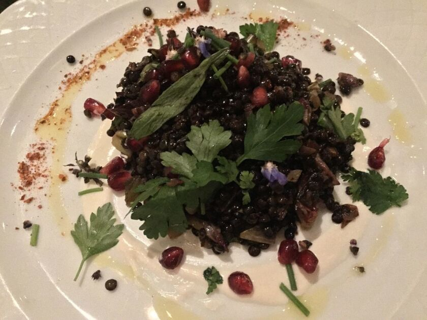 The warm lentil salad from Herb & Wood (Liz Bowen)
