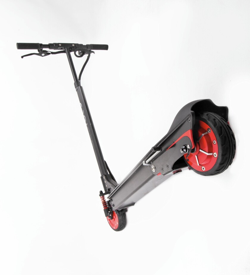 The EcoReco M5 E-Scooter can go 20 miles on one charge.