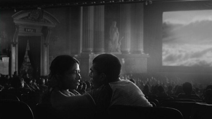 "Yalitza Aparicio and Jorge Antonio Guerrero in ""Roma."""
