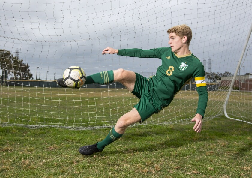 Edison High School's Wyatt Burris the Daily Pilot Boys' Soccer Player of the Year.