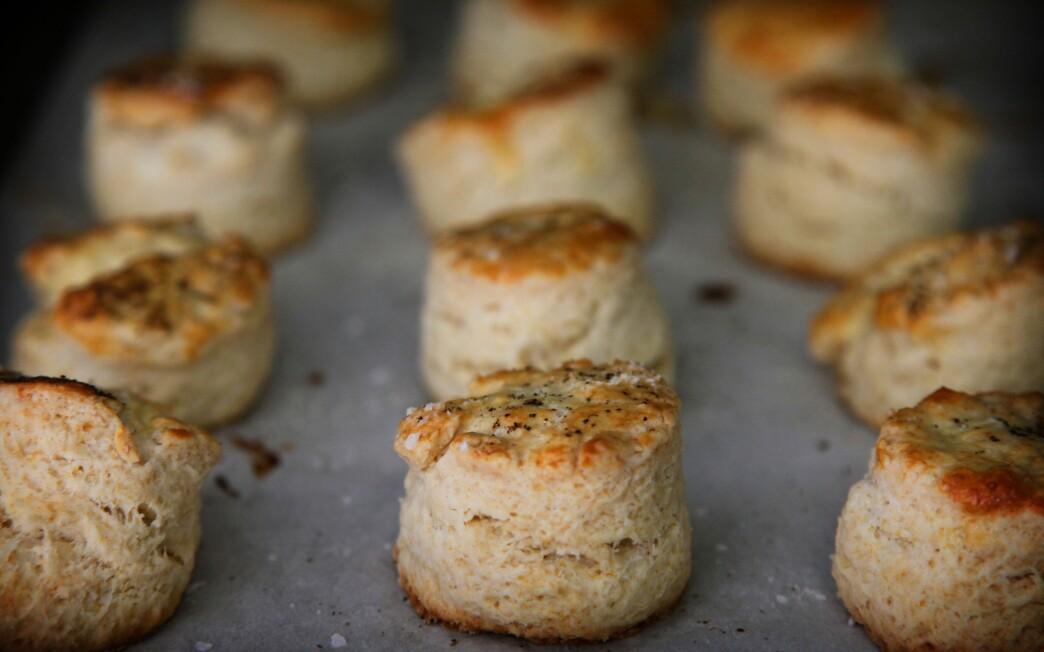Mangalitsa lard biscuits and sausage gravy