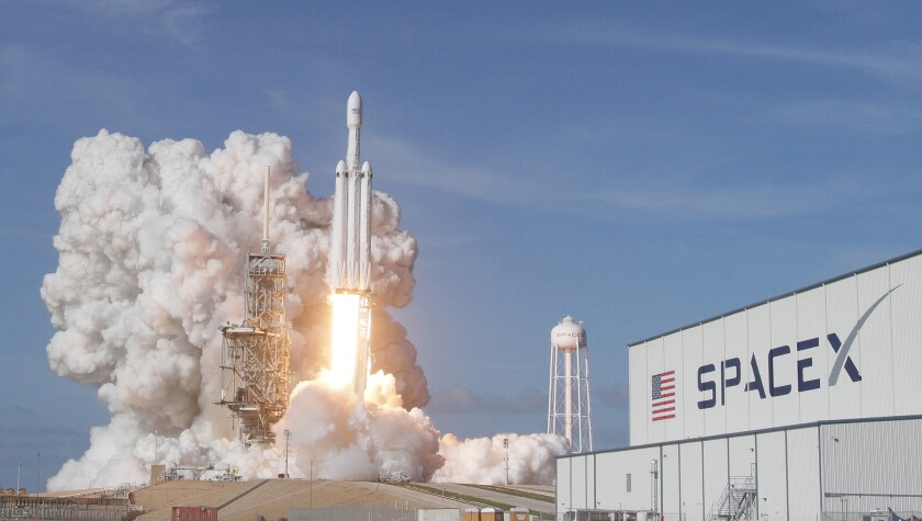 SpaceX launched its Falcon Heavy rocket for the first time in February from Kennedy Space Center in Florida. The company received approval from the FCC to provide broadband internet access with satellites.