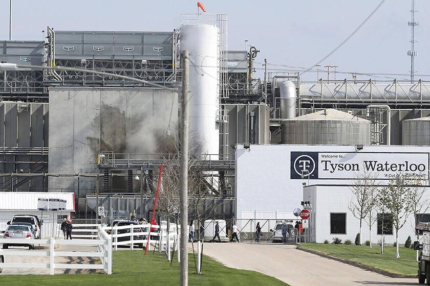 A Tyson Foods plant in Waterloo, Iowa.