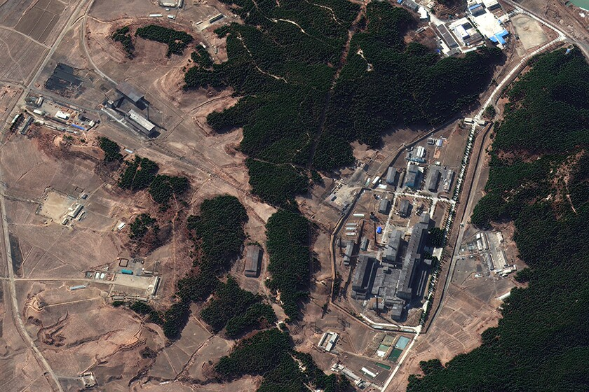 A North Korean complex seen from the air