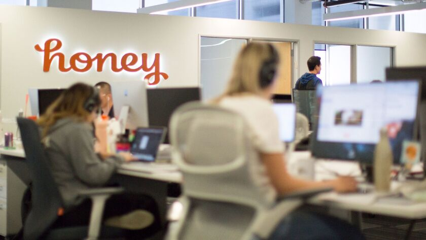 LOS ANGELES, CALIF. - OCTOBER 17, 2017: Honey is a quickly-growing L.A. start-up that aggregates co