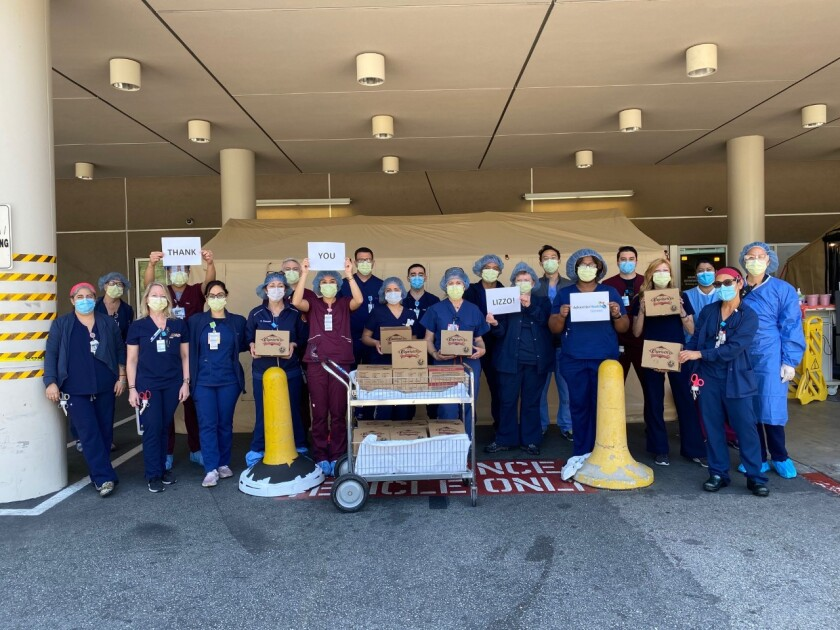 Adventist Health Glendale workers thank Lizzo