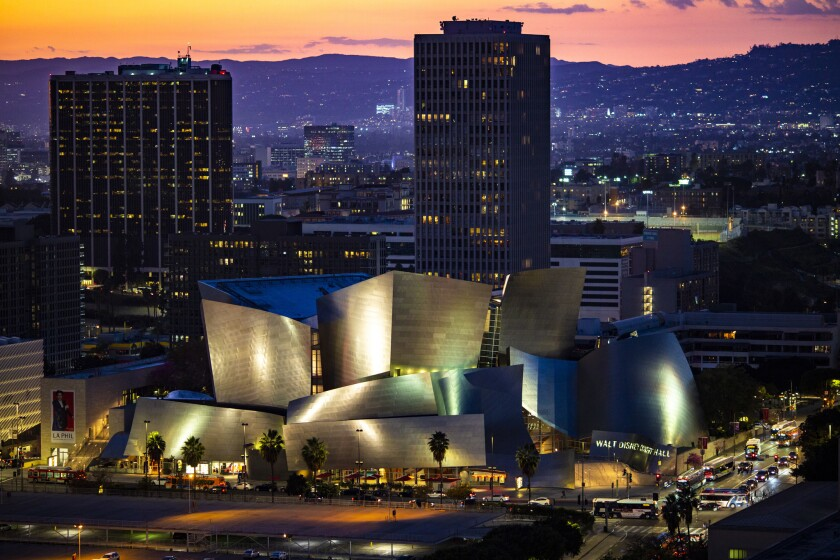 LOS ANGELES, CA - FEBRUARY 14: Walt Disney Concert Hall is the fourth hall of the Los Angeles Music