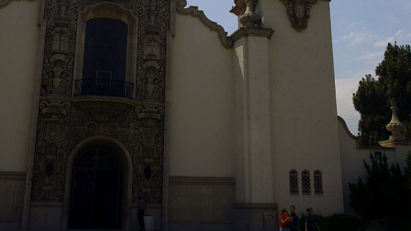 One of Los Angeles' best known Catholic Churches was badly damaged by a vandal who broke into the landmark North Hollywood chapel Wednesday morning and caused more than $100,000 worth of damage, police said.