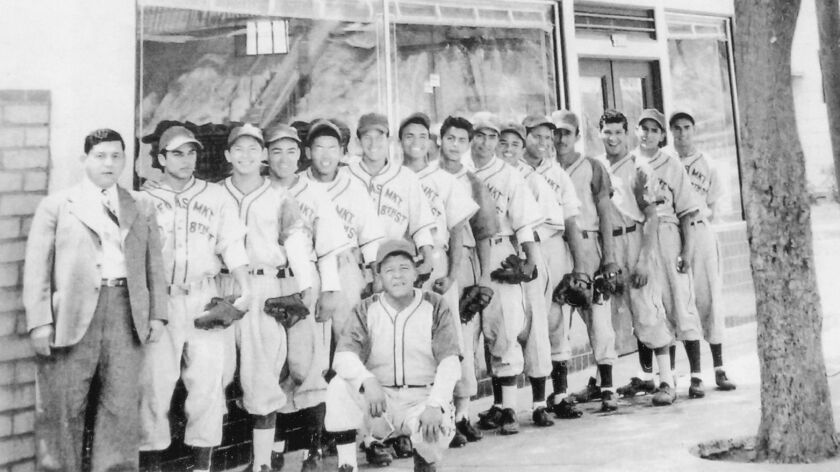 """The 1949 Ornelas Food Market baseball team, from """"Mexican American Baseball in East Los Angeles."""""""