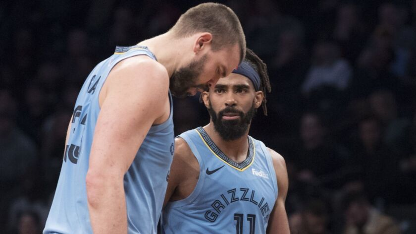 Grizzlies guard Mike Conley (11) and center Marc Gasol are in their 11th season together in Memphis.