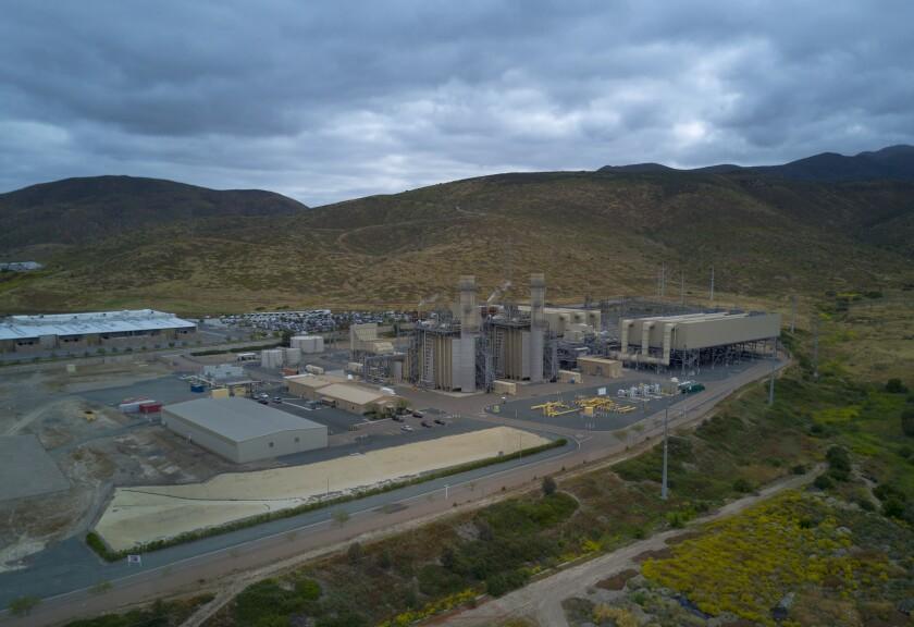 The Otay Mesa Energy Center, the 608-megawatt natural gas-fired, combined-cycle facility near Chula Vista.