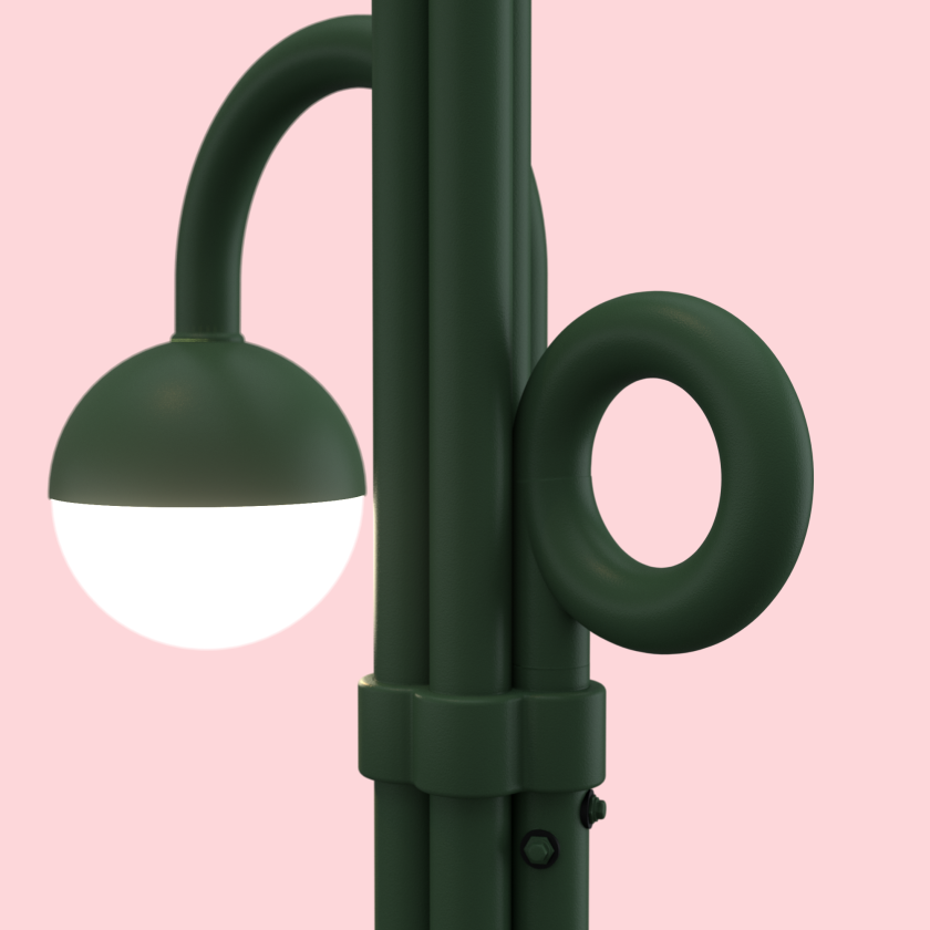 Detail of the winning design in the L.A. streetlight competition.