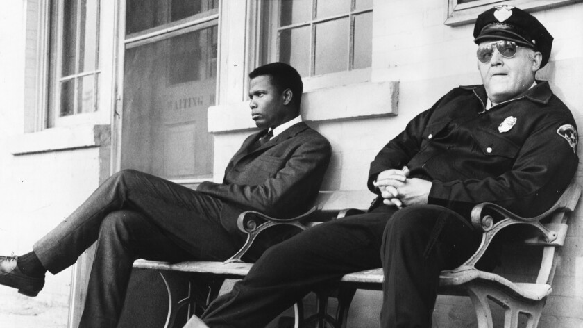 """Sidney Poitier, left, and Rod Steiger in """"In the Heat of the Night."""""""