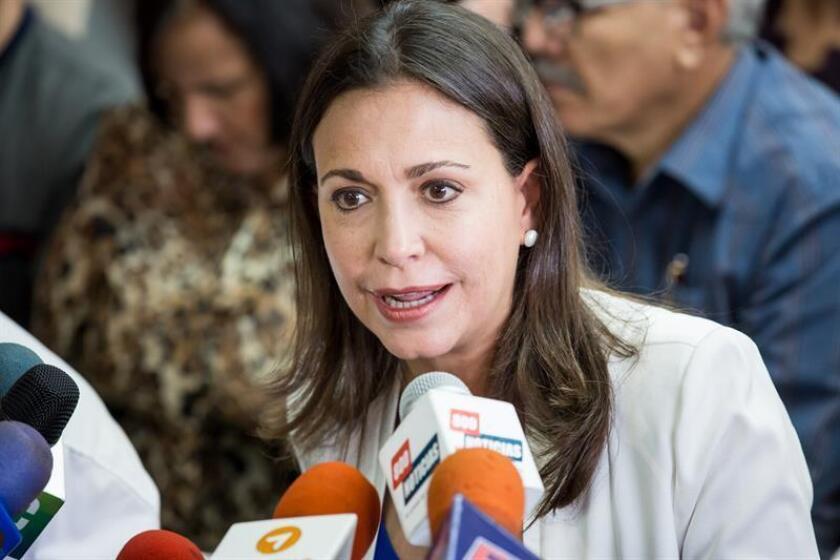 En la imagen, la dirigente venezolana María Corina Machado. EFE/Archivo