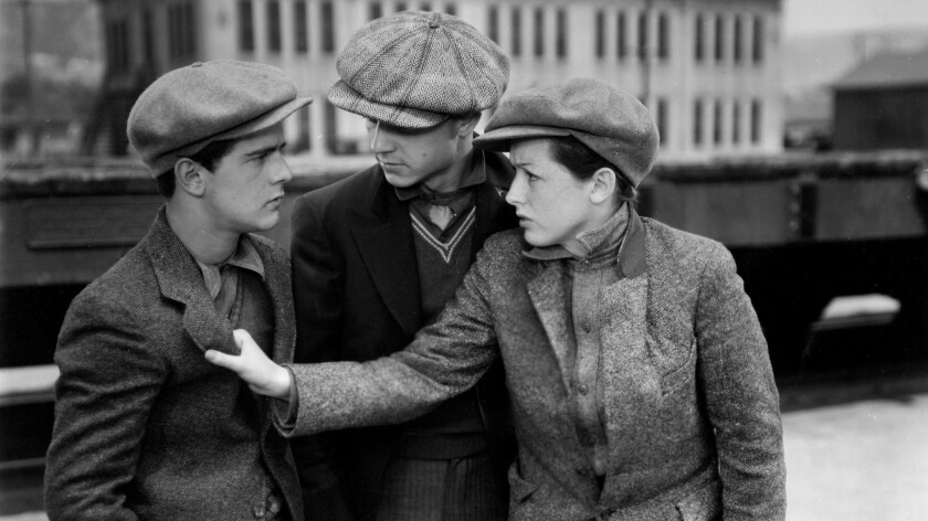Left to right: Frankie Darro, Edwin Phillips and Dorothy Coonan in William A. Wellman's 'Wild Boys of the Road.'