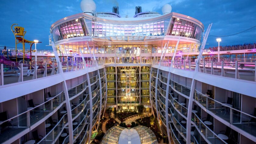 General view to Central Park on the Royal Caribbean International's Harmony of the Seas, the world""