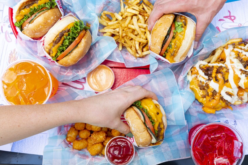 Burgers, fries and dipping sauces from Monty's Good Burger