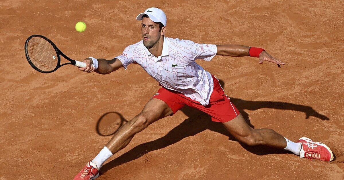 Novak Djokovic Loses Cool Again But Rallies For Win In Italy Los Angeles Times