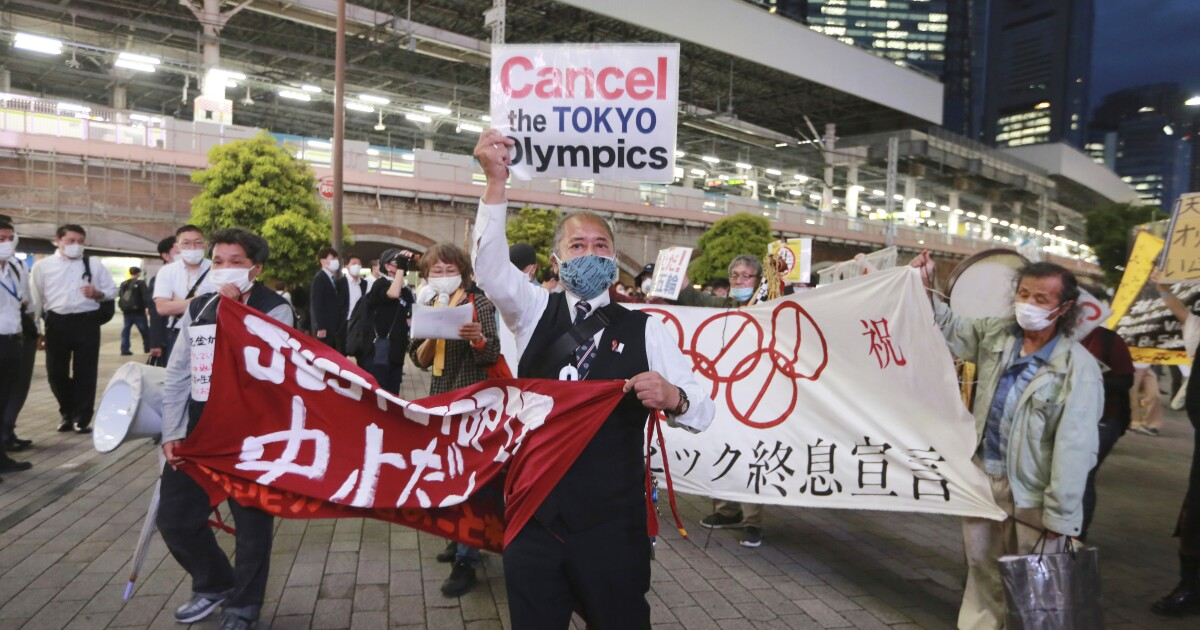 Tokyo Olympics loom, with only 2% of Japanese fully vaccinated and fears over thousands of visitors