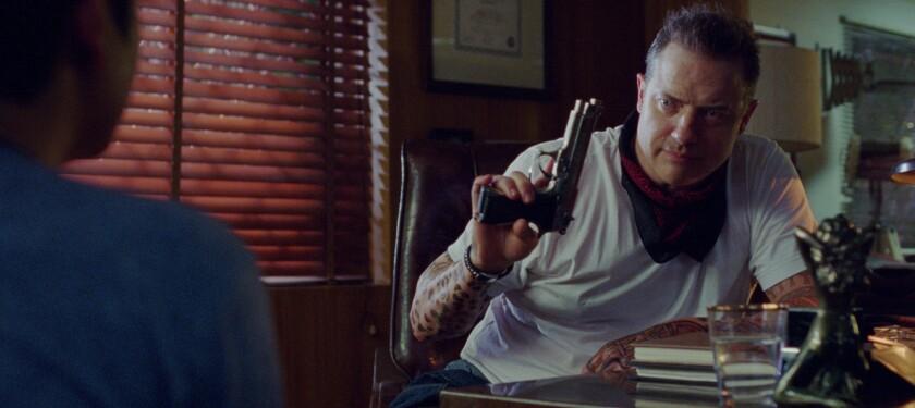 Brendan Fraser in the movie 'Line of Decent'