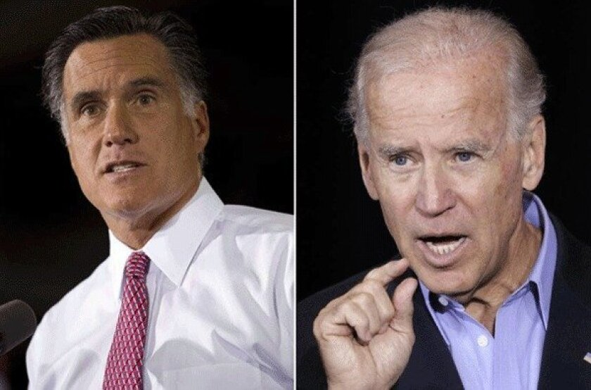If the electoral college is tied at 269 votes per candidate, the House elects the president and the Senate elects the vice president, which makes the combination of Mitt Romney, left, and Vice President Joe Biden a real possibility.