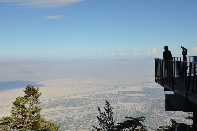 Lonely Planet picked Palm Springs and the surrounding desert as a must-see 2017 destination. The photo shows the views from the Aerial Tram that climbs about 8,500 feet above the desert floor.
