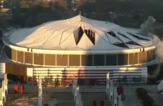 Imágenes de la demolición del Georgia Dome
