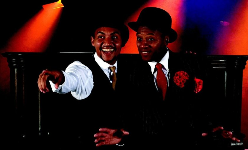 """David LaMarr (left) and Rufus Bonds Jr. in the San Diego Musical Theatre production of """"Ain't Misbehavin'."""""""