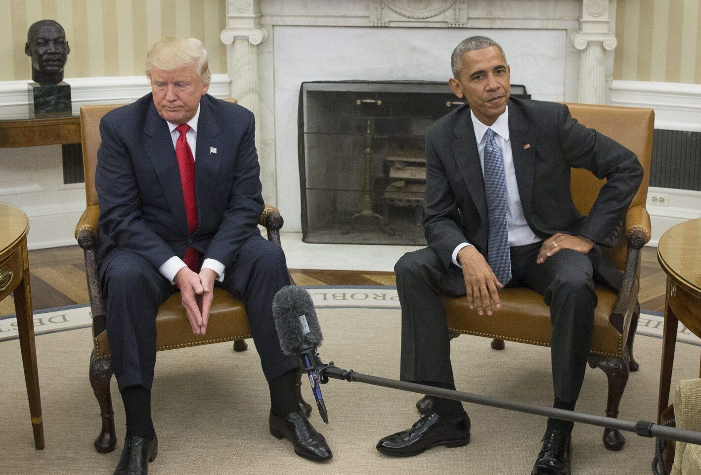 Trump y Obama: presidente y presidente