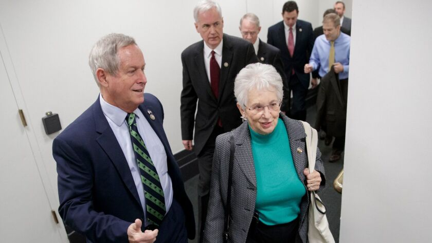 Rep. Virginia Foxx (R-N.C.), right, introduced the Preserving Employee Wellness Programs Act.