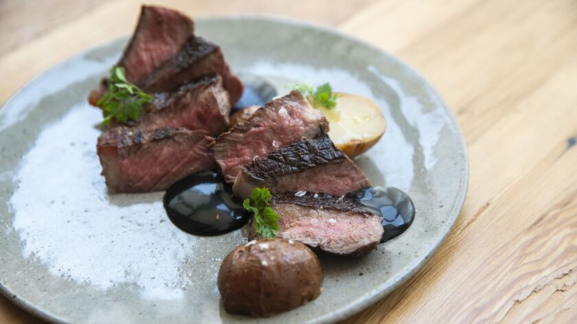 LOS ANGELES, CALIF. - SEPTEMBER 20: The Vaca Vieja, 10 oz. dry aged, mindful meats organic dairy bee