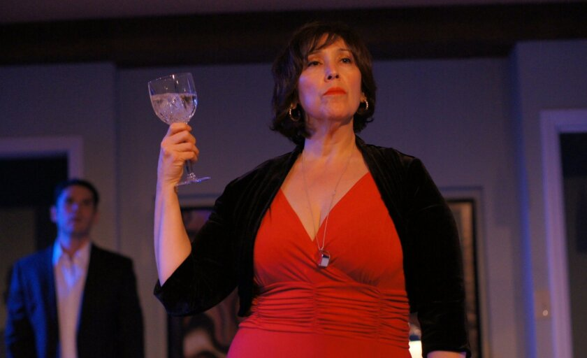 """Catalina Maynard (with Jorge Rodriguez) in Ion Theatre's """"Julia."""""""