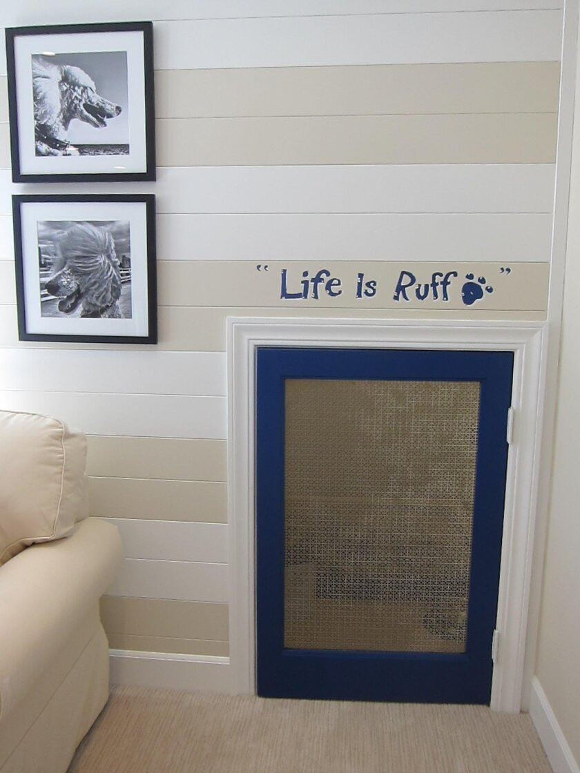 Builders are creating pet-friendly spaces like this secure sleeping area.
