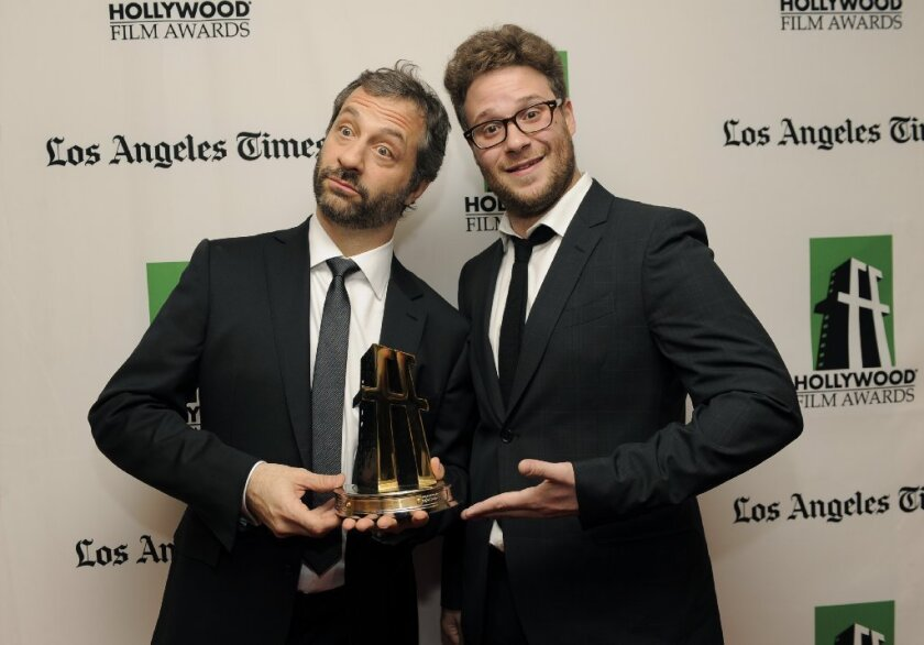 Apatow-Rogen 'mind meld' wins cheers at Hollywood Film Awards