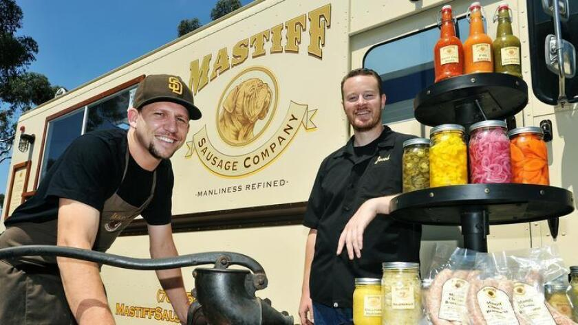 Eric Gallerstein, left, and Jacob Bartlett, co-owners of Mastiff Sausage Co. (Rick Nocon)