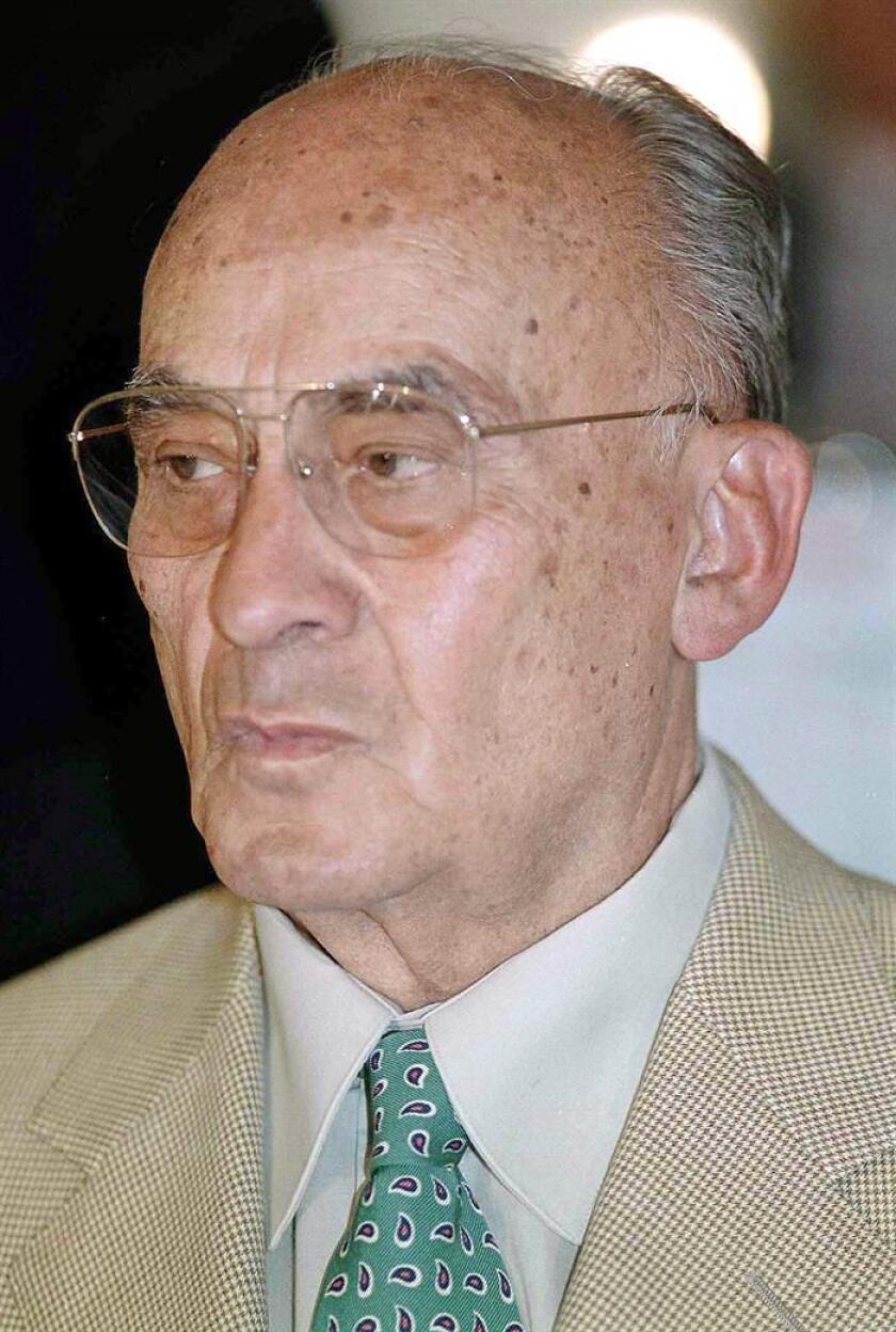 Fotografía de archivo (26/09/00) del ex presidente de México (1970-1976) Luis Echeverría Álvarez. EFE/Archivo